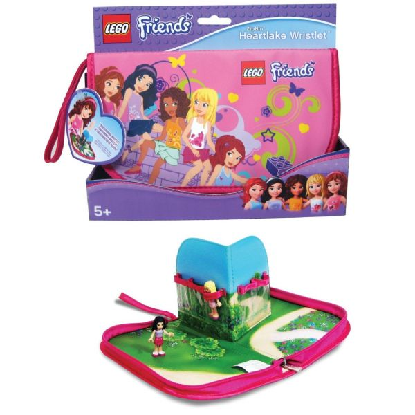 Lego Friends Zip Bin Heartlake Wristlet Carry Case